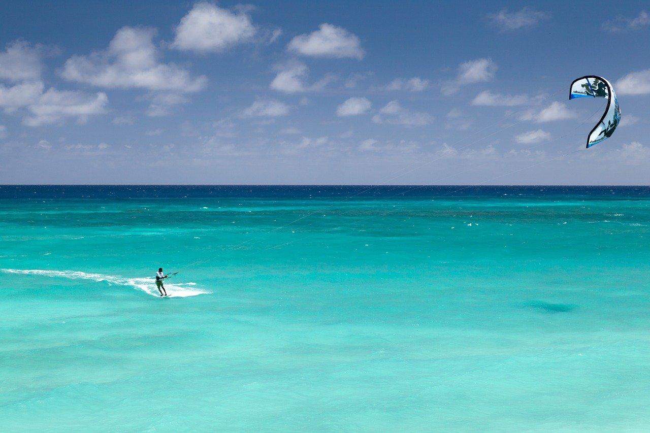 Kitesurf à la Pointe Faula (Le Vauclin, Martinique)