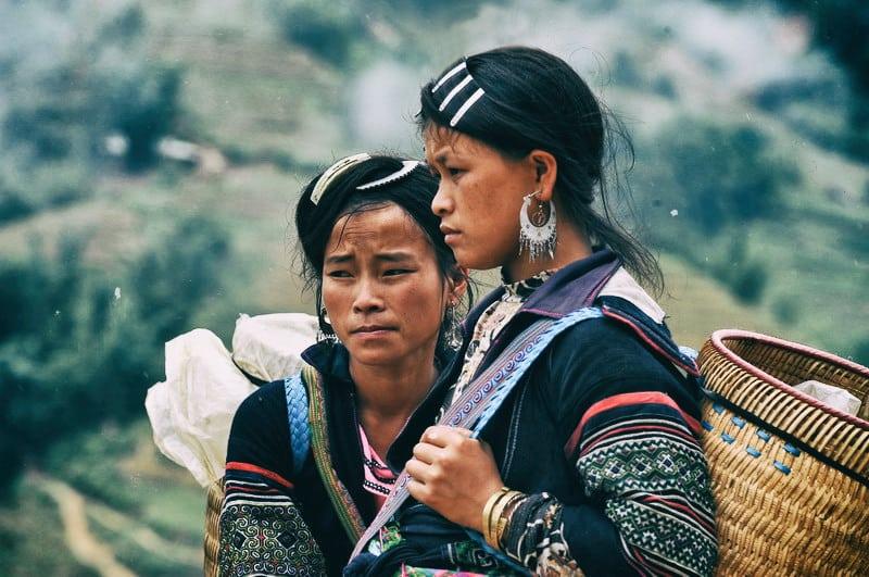 Femmes Hmong au Viêt Nam (Asie)