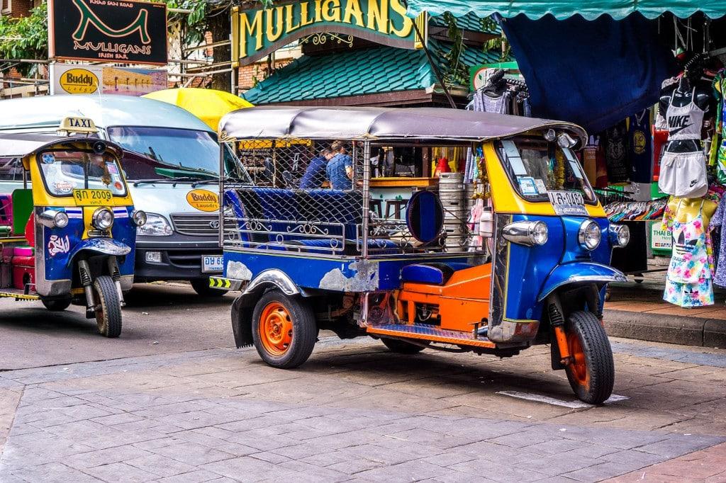 Tuktuk en Thailande