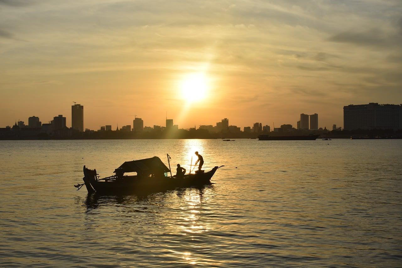 fleuve Mékong au Cambodge (Asie)